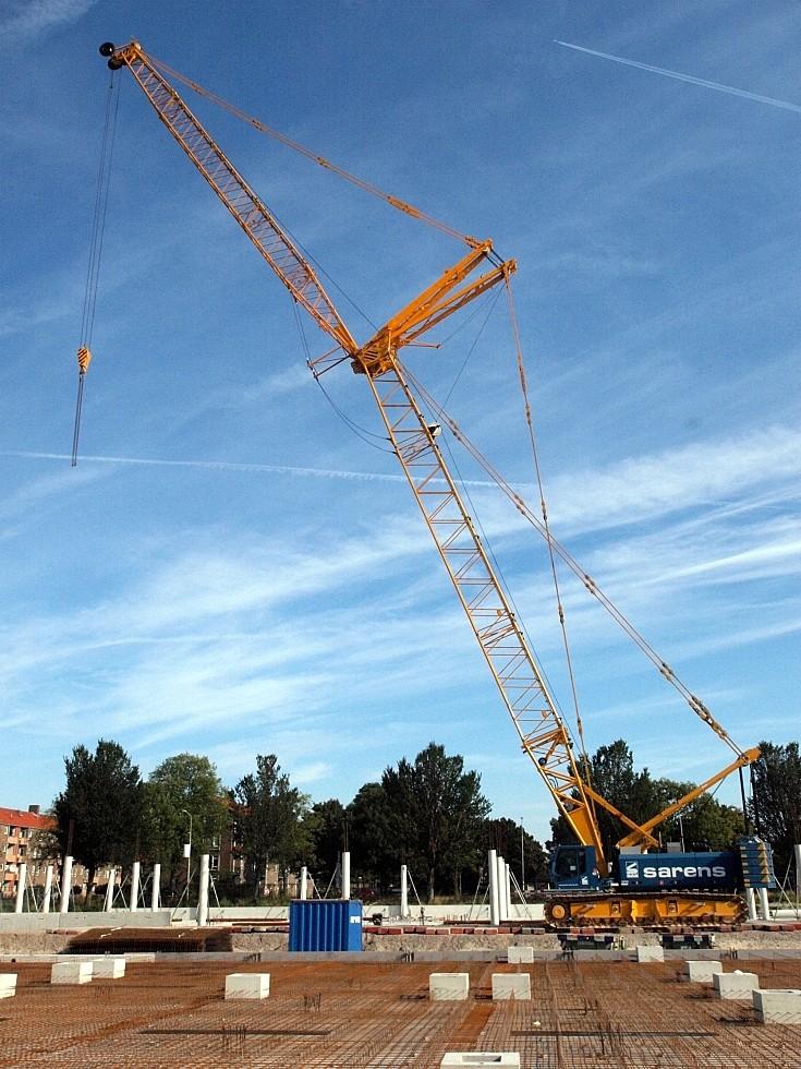 Sennebogen 5500 at construction works