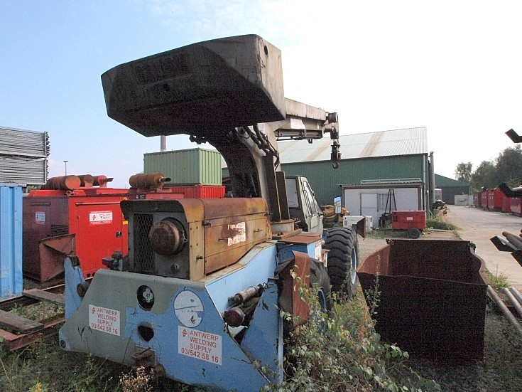 Rear view of an old Galion crane