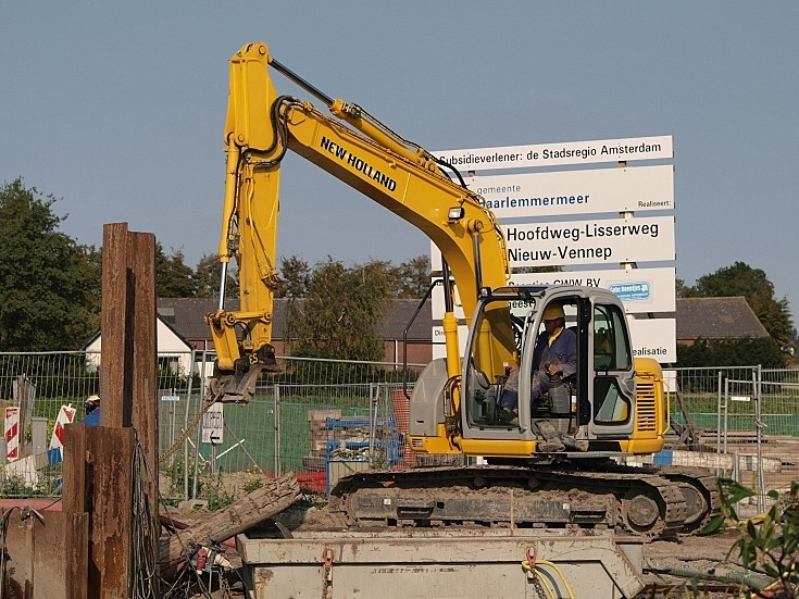 Excavator used for some lifting