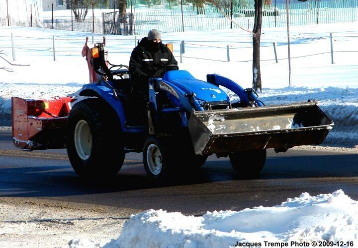 New Holland 16L on snow patrol