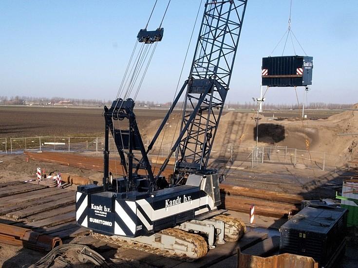 Sumitomo crawler crane owned by Kandt b.v.