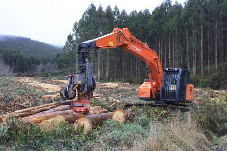 Hitachi harvester in New Zealand