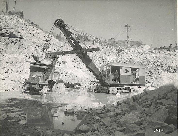 Lima model 802 shovel
