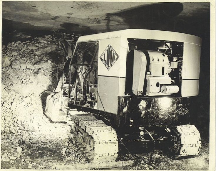 electric shovel in a mine