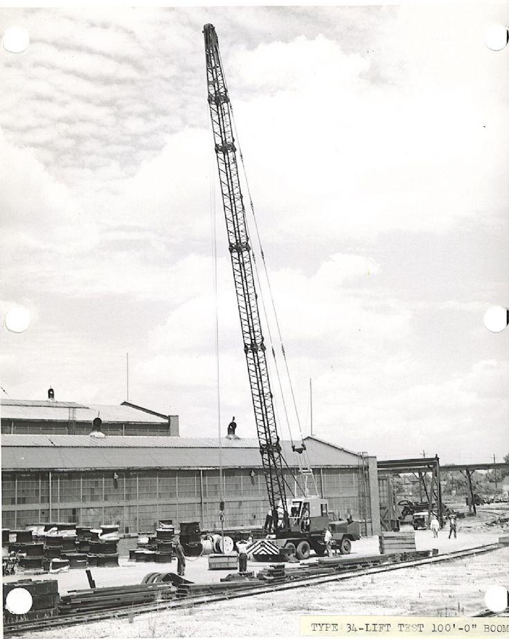 Lima type 34 truck crane