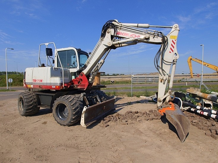 Takeuchi TB175W at roadworks