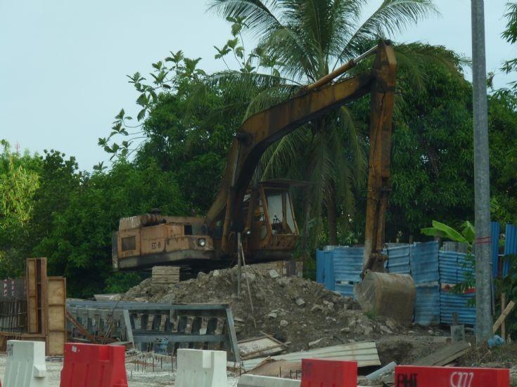 Kobelco long reach excavator