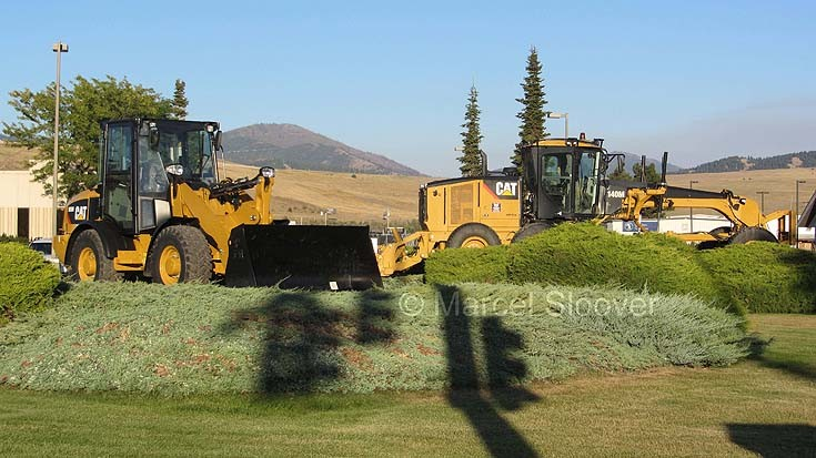 Heavy equipment in Missoula