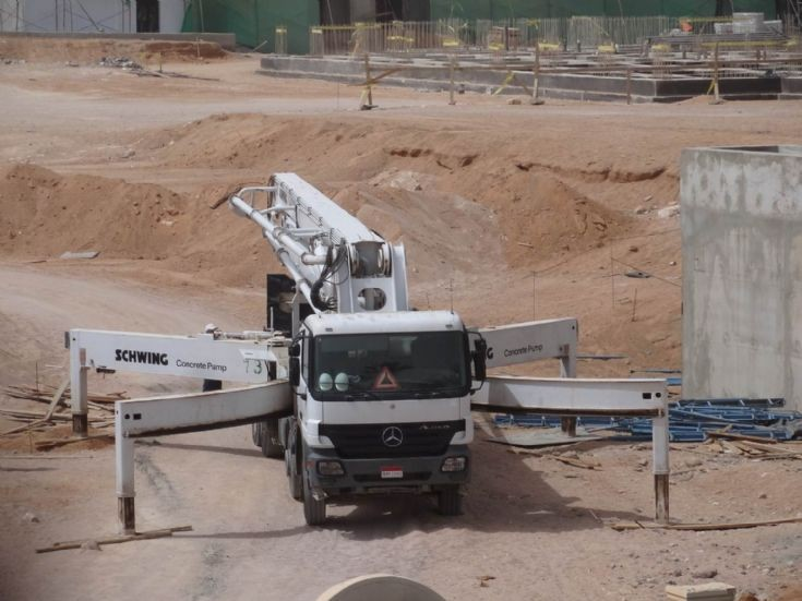 Mercedes Benz Schwing Concrete Pump, Egypt