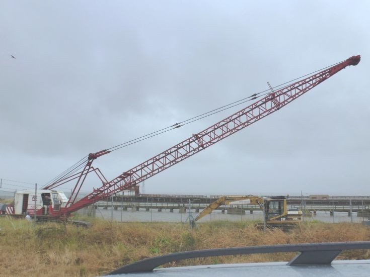 Ruston Bucyrus tracked crane