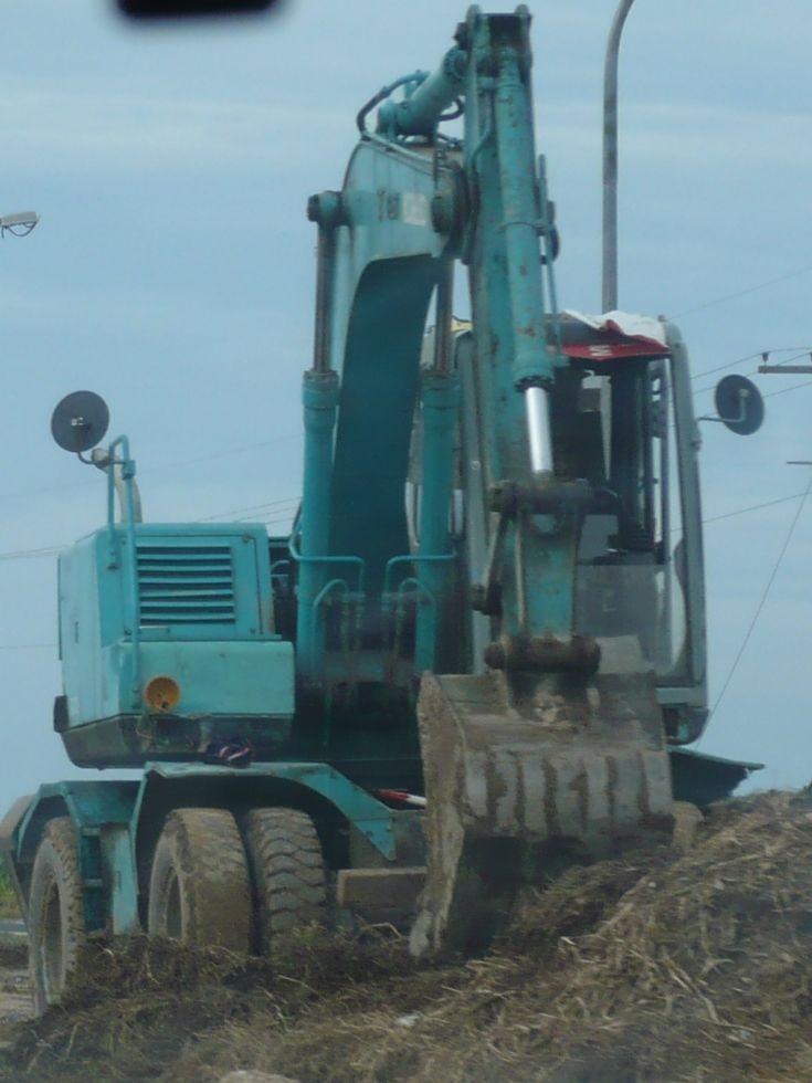 Kobelco wheeled excavator