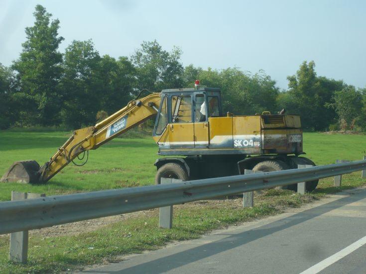 Kobelco SK04 wheeled excavator