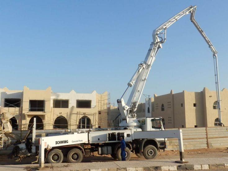 Mercedes Benz Schwing Concrete Pump, Egypt