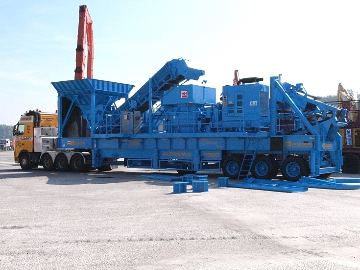 photo of Mobile Cone Crusher - Pegson Automax 1300