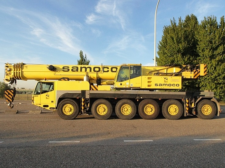 Samoco mobile crane in Belgium
